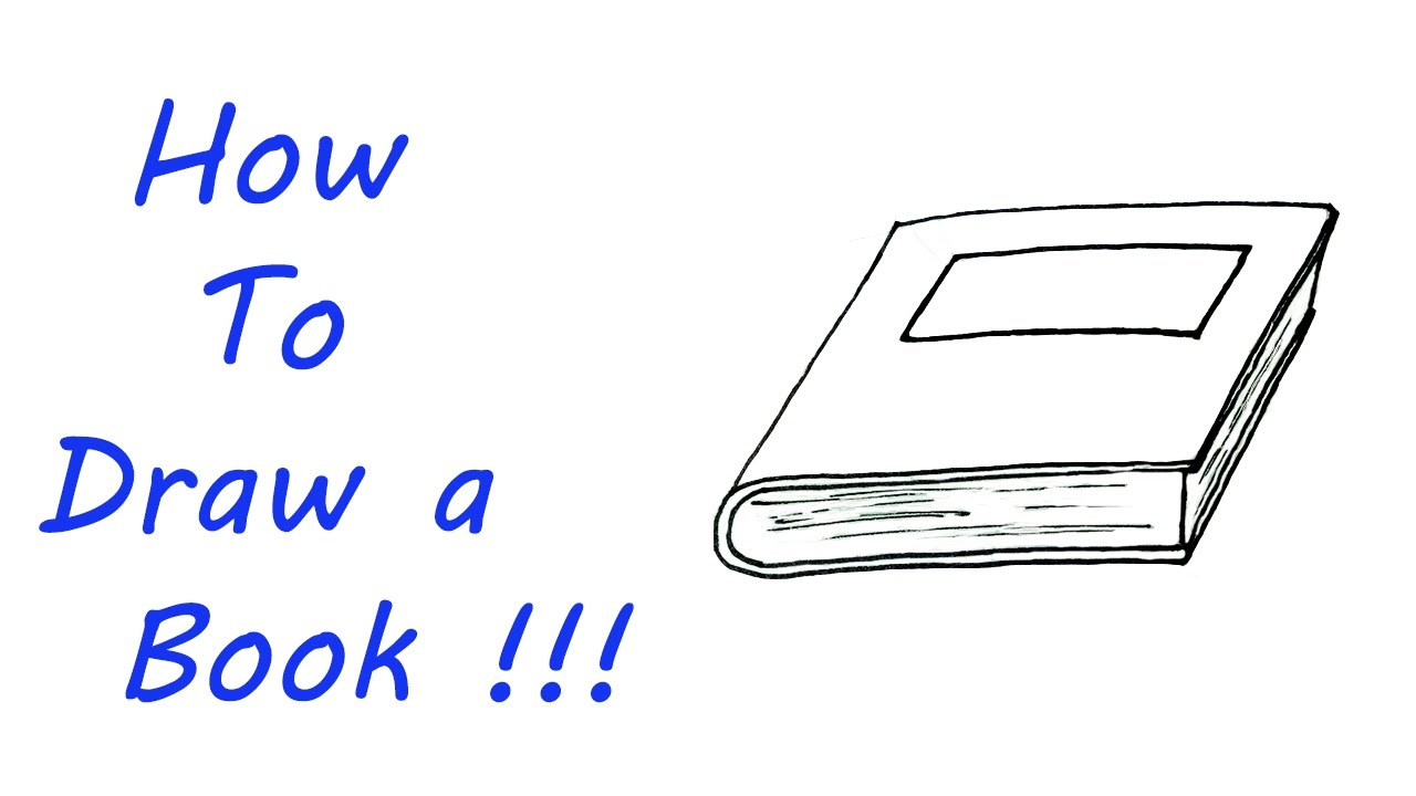 How To Draw A Book Very Easy For Kids Youtube