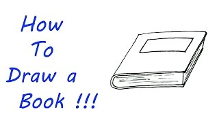How To Draw a Book - VERY EASY For Kids