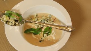 Крем суп из белых грибов с сыром дорблю. Рецепт от шеф-повара.