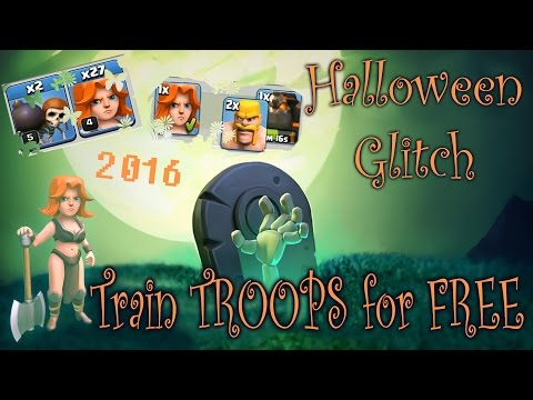 Train TROOPS for Free - Halloween Glitch | Clash of Clans