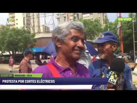 Venezuela - Pensionados protestan porque los cortes eléctricos impiden el pago - VPItv