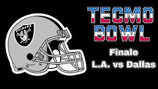 Tecmo Bowl NES - Tecmo Bowl Game: L.A. vs. Dallas