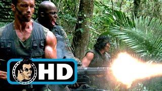 PREDATOR Movie Clip - Mini-Gun Scene (1987) Arnold Schwarzenegger Sci-Fi Action Movie HD
