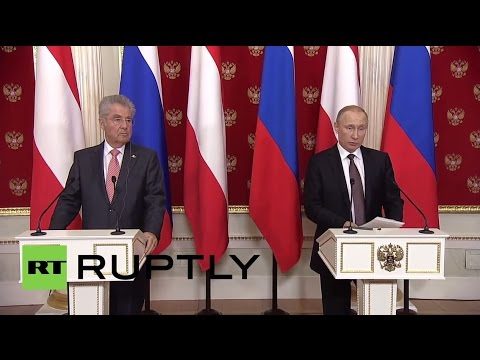 Russia: Putin touts Austria-Russia gas and oil ties after Fischer meeting