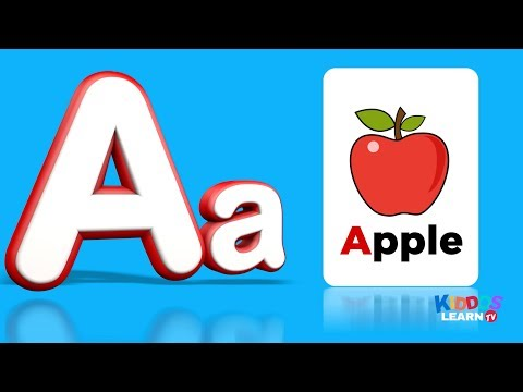 Learn abc for kids - ABC Flashcards   - Alphabet - Letters for toddlers - Flash Cards