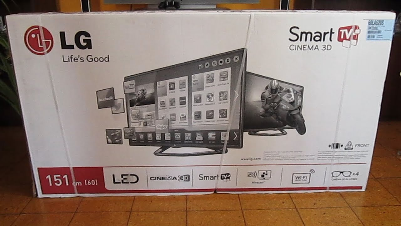 Lg 60la620s 60 Quot Full Hd Cinema 3d Smart Led Tv Unboxing