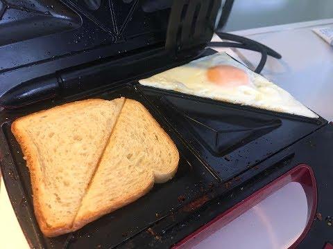 MAKE YOUR EGGS IN A SANDWICH MAKER (EASY HACK)