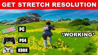 How to Get STRETCHED RESOLUTION in FORTNITE SEASON 2 (PC/PS4/XBOX) *WORKING*