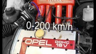 Astra GSI Lexmaull 0-200 km/h acceleration