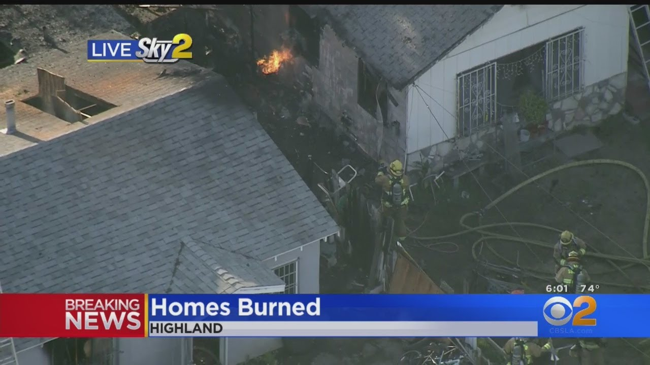 Homes Burned In Possible Gas Leak