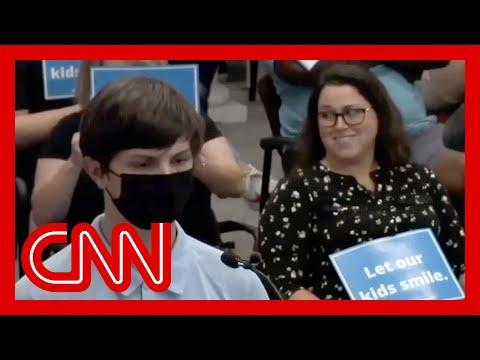 'Shut up': Teen mocked over masks at school board meeting