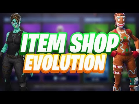 Fortnite Item Shop Evolution! OVER One Year Of The ITEM SHOP!