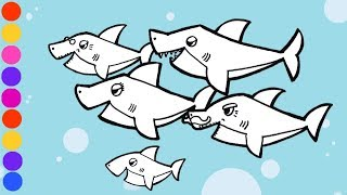 Baby Shark Song Coloring Pages Sca2016