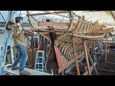 BoatBuilding - Installing Beamshelves  / BIG Plans! (EP67)