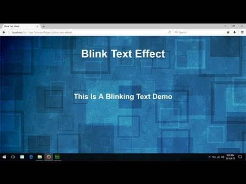 Blinking Text Using Css, Html Code For Flashing Text