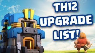 Clash of Clans • TOWN HALL 12 UPGRADE LIST