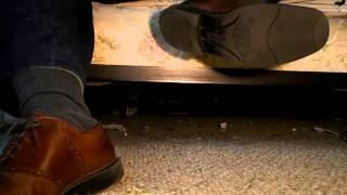 Putting on my Florsheim saddle shoes