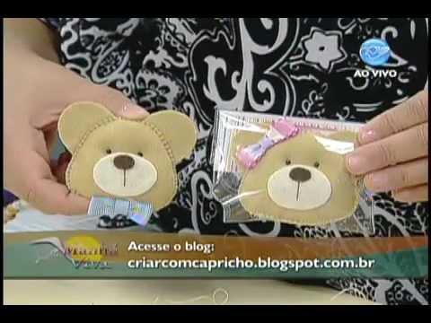 Manhã Viva - Artesanato  Chaveiro de ursinho - YouTube b7ae028b0a