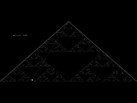 Playing the Chaos Game (Sierpinski Triangle)
