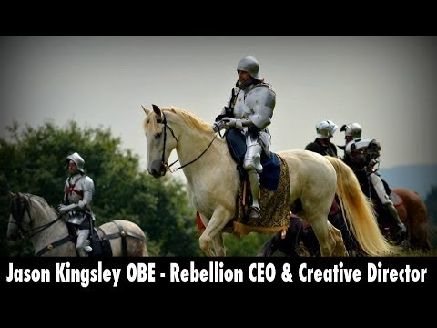Jason Kingsley OBE - Rebellion CEO, Jousting at the Royal Armouries team tournament