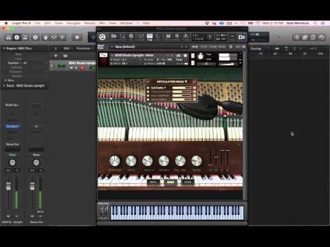 8DIO 1901 Studio Upright Piano Test/Demo