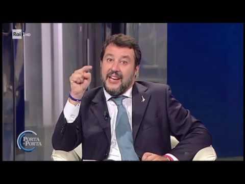 Matteo Salvini: perplessità sulla durata del Governo - Porta a porta 22/10/2019