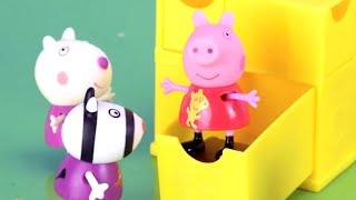 Peppa Pig Stop Motion - Qu'est ce qu'il y aà l'intérieur du Coffret Surprise de Peppa? |Dessin Animé
