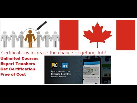 Free CERTIFICATIONS & Courses || JOB For New Immigrants In CANADA