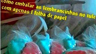 APRENDA A EMBALAR O TULE USANDO UMA FOLHA DE CADERNO , DIY