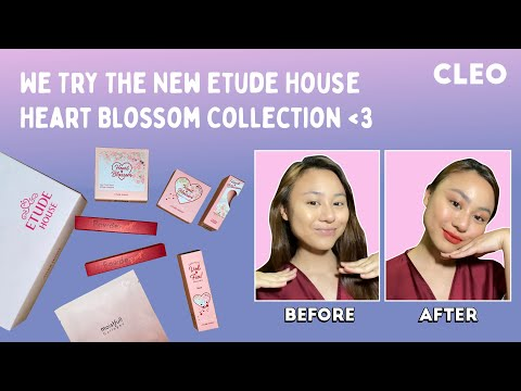 We Try The New Etude House Heart Blossom Collection | CLEO Beauty School | CLEO Malaysia
