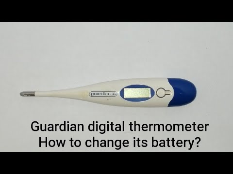 How To Change The Battery Of Digital Thermometer (Guardian) 如何更换数码温度计的电池 Bateri Digital Thermometer