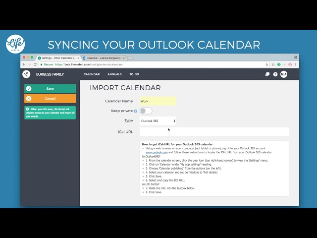 Syncing your Outlook Calendar