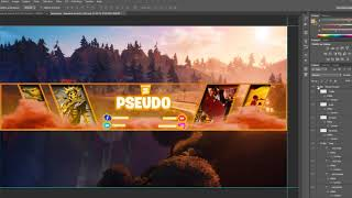 Free PSD Banner Fortnite & Twitch
