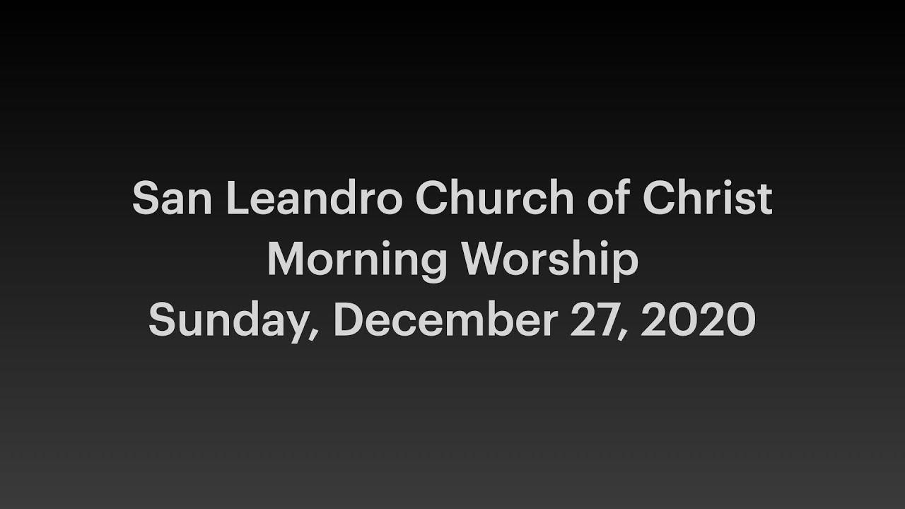 December 27, 2020 Worship