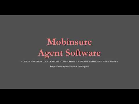How to use Mobinsure Agent Software | ALL-IN-ONE for Agents | Motor, Life, Health, Engg, Fire, PA