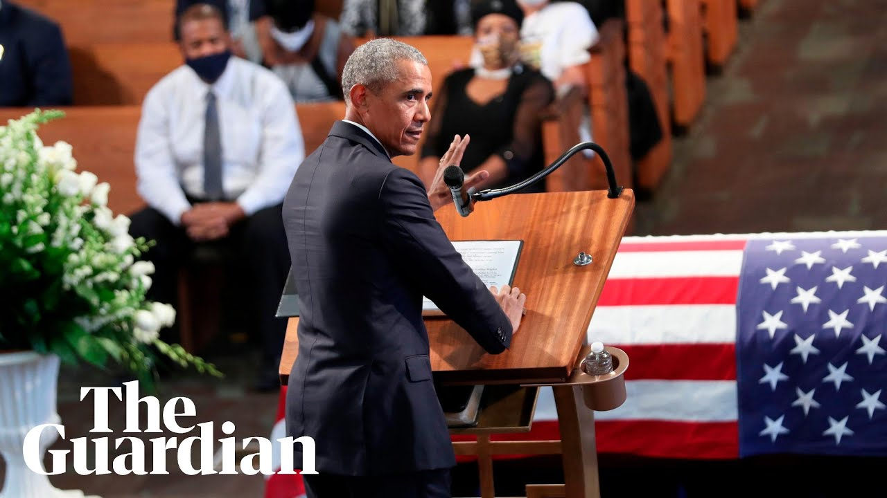 At John Lewis's Funeral, Obama, Clinton and Bush Pay Tribute