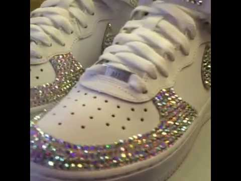 Nike Air Force 1 Blinged. Bling Boutique 875d75103