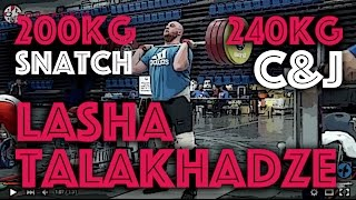Lasha Talakhadze (105kg+) - 200kg Snatch + 240kg Clean and Jerk