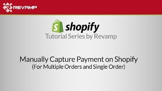 Manually capture payment in shopify more tips: http://ecommerce.revampco.com/ videos: https://www./channel/uc061a7r_te80b5zk1efyxdq/videos ch...