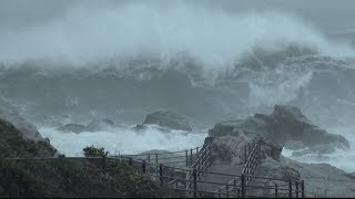 Typhoon Shanshan Rough Seas Batter Japan Coast 台風第13号千葉県銚子 thumbnail