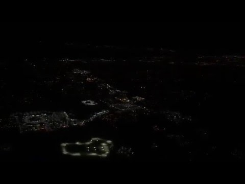Nighttime Approach and Landing into Melbourne International.