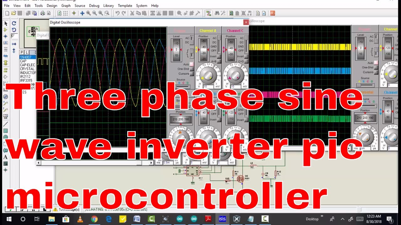 Three Phase Sine Wave Inverter Using Pic Microcontroller Youtube Pure Circuit Power Transistor Stage