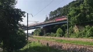 8500견인 화물열차 유천리 통과