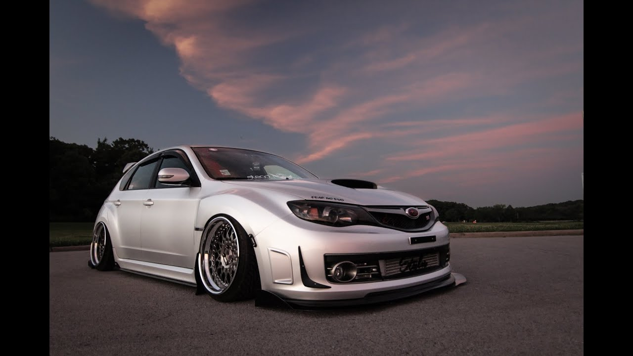 Eric S Bagged 2008 Subaru Sti 400whp On Stock Block