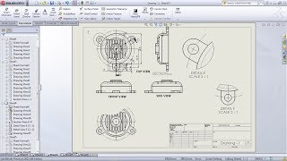 SolidWorks Drawing / Drafting Tutorial for Beginners - 1 | SolidWorks Drawing Basics | Drawing Views