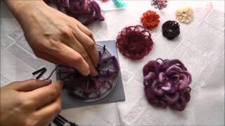Станок для плетения цветов Flower Loom(Мастер-класс по плетению цветов из пряжи на гениально простом приспособлении Flower Loom. Демонстрируется как..., 2014-03-13T13:53:28.000Z)