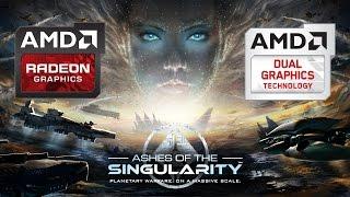 Ashes Of Singularity - iGPU + dGPU DirectX12 benchmark
