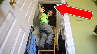 connectYoutube - EXPLORING SECRET HIDDEN ROOM IN ATTIC!!