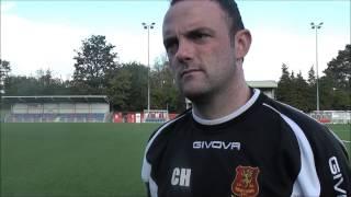 Chris Hughes reacting to 6-3 Aberystwyth win