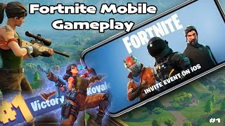 FORTNITE GAMEPLAY MOBILE - FIRST LOOK 'GIVEAWAY'